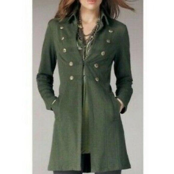 CAbi Jackets & Blazers - CAbi #587 Cavilleri Military Knit Jacket Green M
